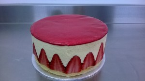 The prize of our competition - A Fraisier cake