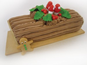 On the first day of Christmas my true love sent to me, a yule log in a photograph