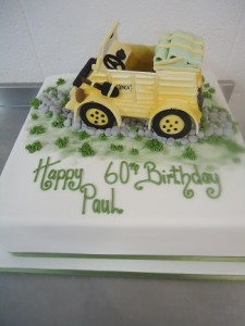 70th birthday rugby cake