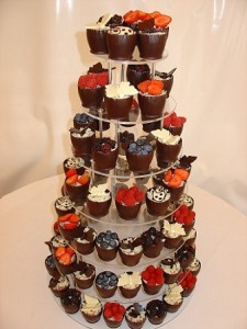 60th birthday cup cakes