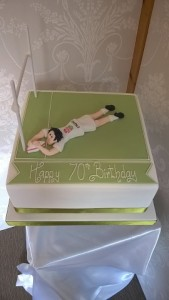 70th rugby birthday cake