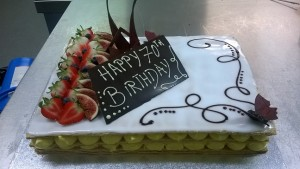 70th butterfly cake