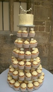 cup cake white tower
