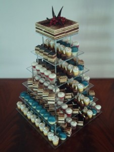 finger biscuits choc tower
